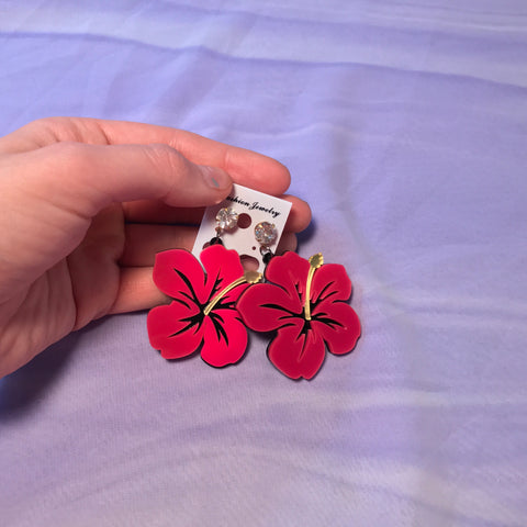 Hibiscus Earrings - FreetheSpirit