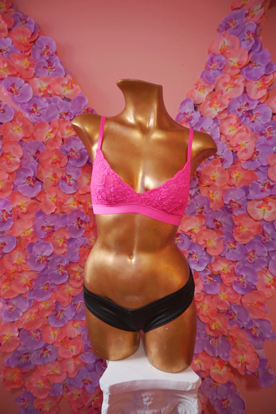Pink Triangle Bra Preloved - FreetheSpirit