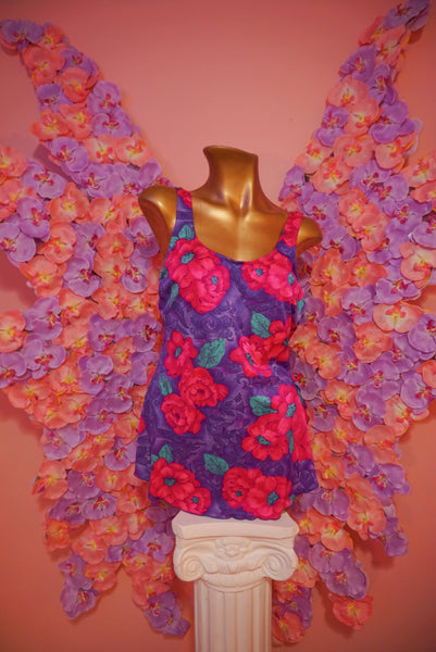 Vintage Floral Romper Style Bather Pre-loved - FreetheSpirit