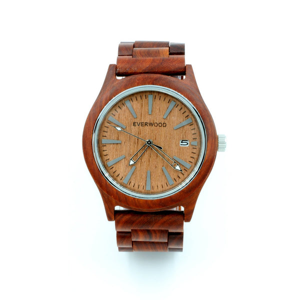 Everwood Watch Company Kylemore - Red/Red (Sandalwood)