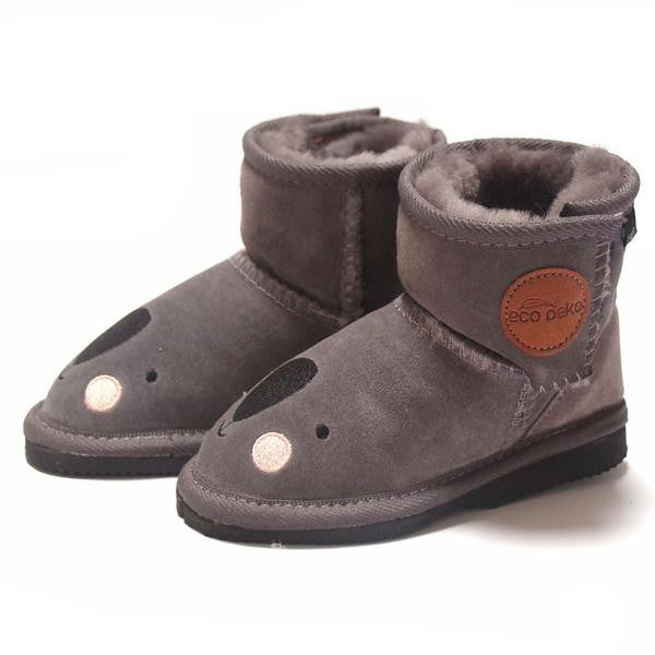 Eco Peko Koala Merino Boot Charcoal