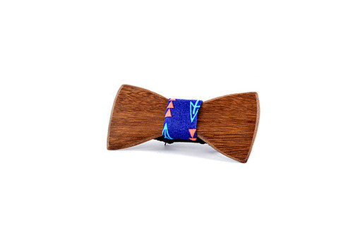 Kids Bowtie - Peggy And Finn Bow And Arrow Roasted Blackbutt Kids Bowtie