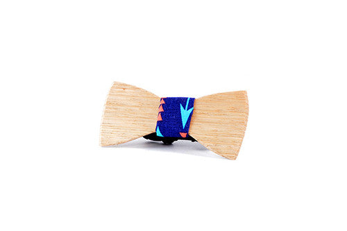 Kids Bowtie - Peggy And Finn Bow And Arrow Tassie Oak Kids Bowtie
