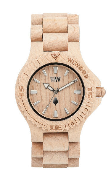 Men Accessories Woman Accessories Sunglasses, Unisex Sunglasses - WeWood Date Beige Wood Watch