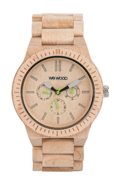 Men Accessories Woman Accessories Sunglasses, Unisex Sunglasses - WeWood Kappa Beige Wood Watch