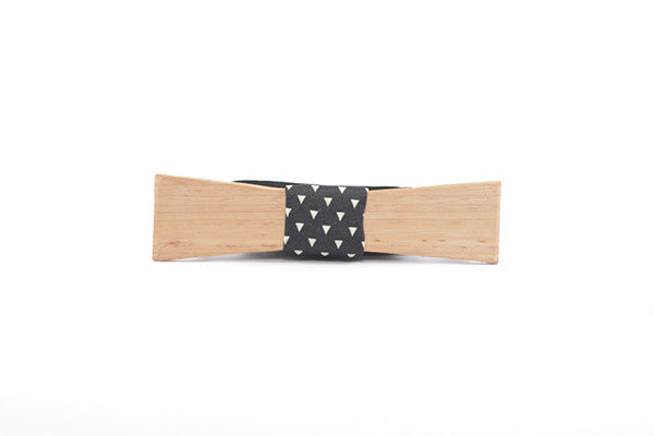 Mens Accessories - Peggy And Finn Brooklyn Tassie Oak Skinny Bowtie