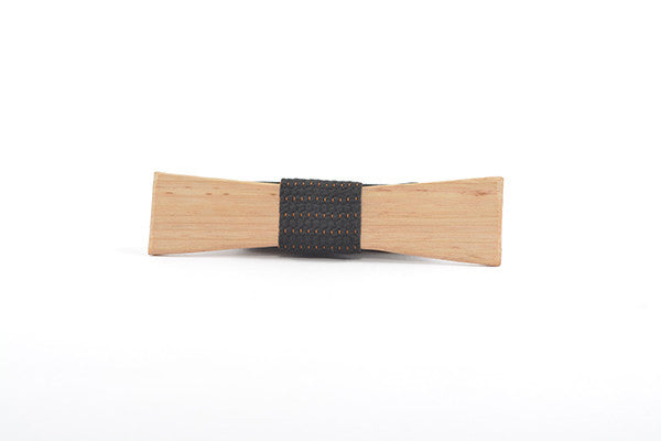 Mens Accessories - Peggy And Finn Charlton Tassie Oak Skinny Bowtie
