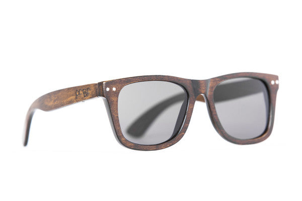 Sunglasses - Proof Ontario Stained Bamboo Grey Sunglasses