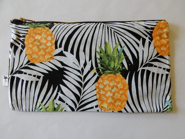 Woman Accessories - Black Flamingo Pineapple Clutch