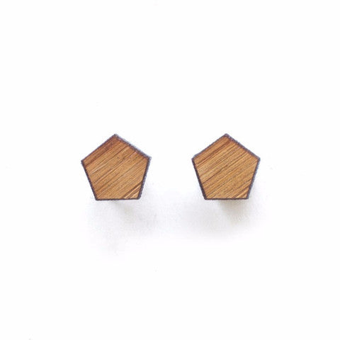 Woman Accessories - One Happy Leaf Pentagon Studs