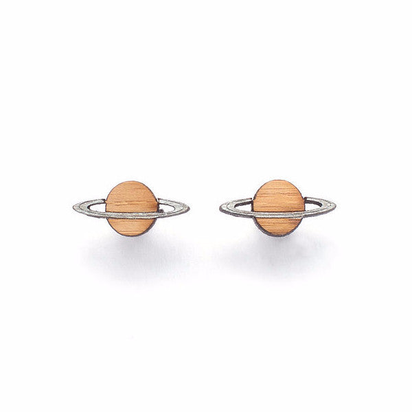 Woman Accessories - One Happy Leaf Planet Studs
