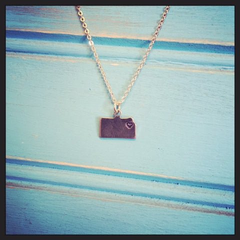 Kansas Heart Necklace