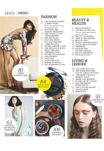 Grazia Magazine,Page No-06,March-2017