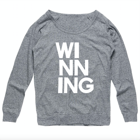 WINNING long sleeve sweater