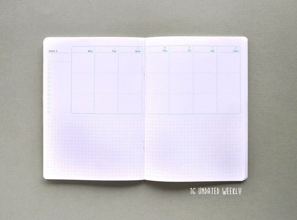 A5 Quarterly Planner Notebook Insert