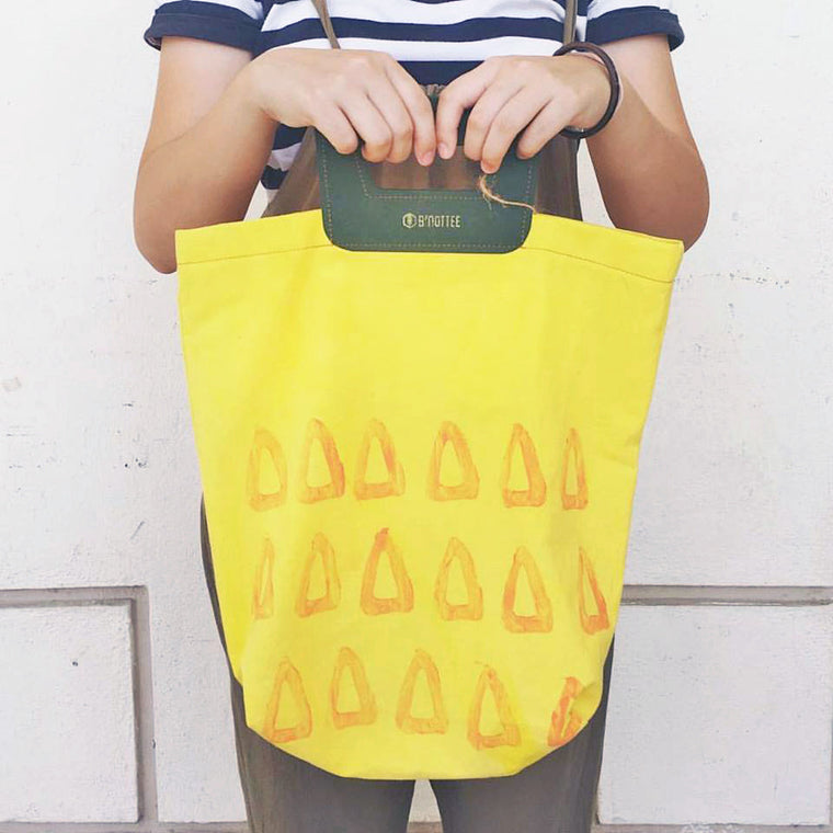 Wang Wang Pineapple Natural Dye Linen Tote Bag