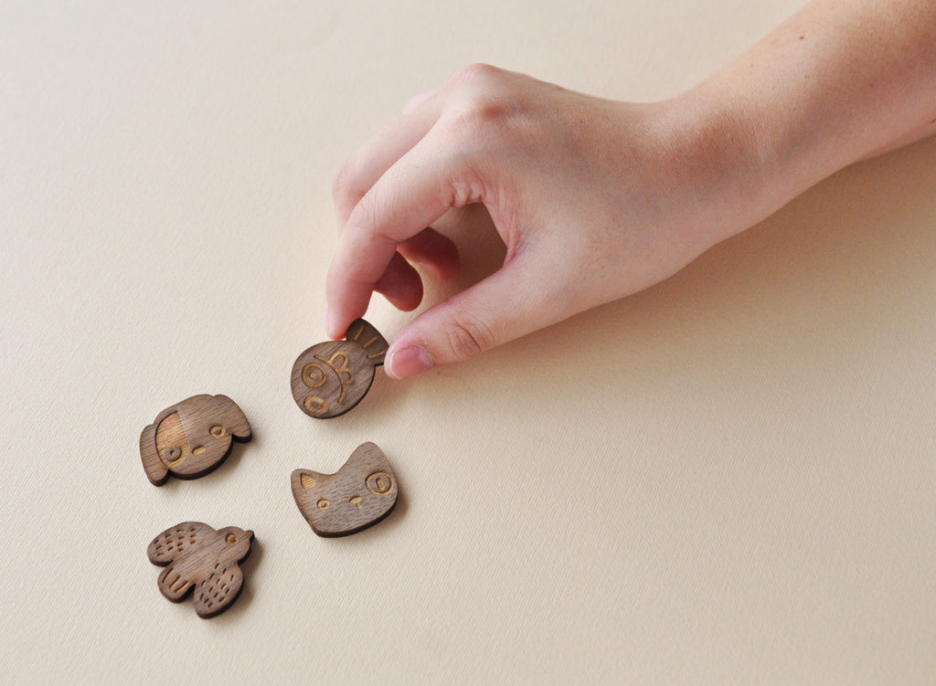 Animal Wooden Button