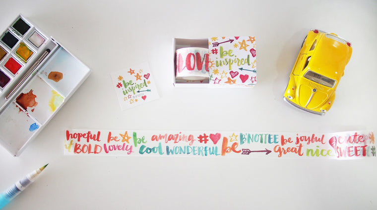 Be Inspired - Brush Lettering washi tape