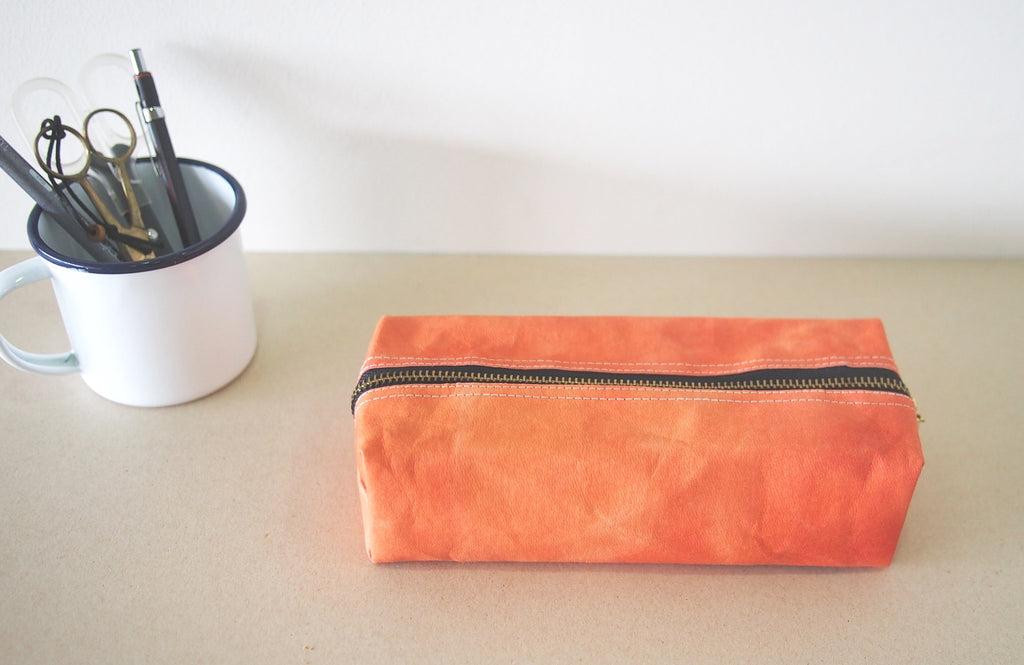 Roti - Handmade Washable Kraft Paper Pencil Pouch