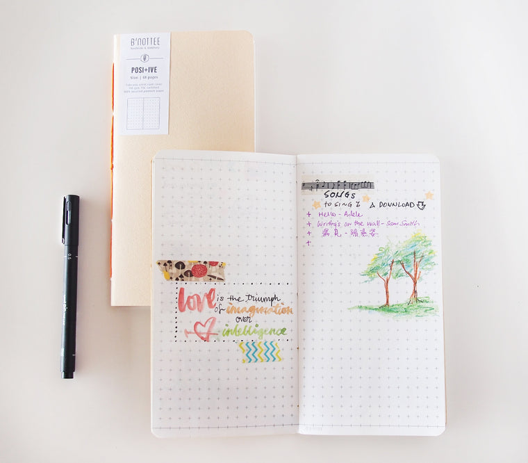 Slim Positive Grid Notebook Insert