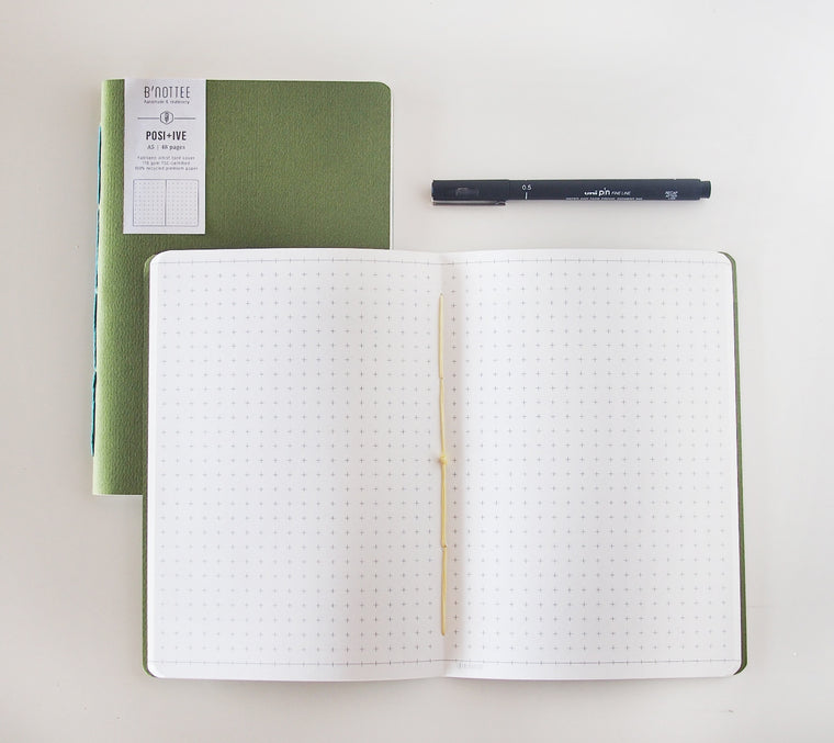 A5 Positive Grid Notebook Insert
