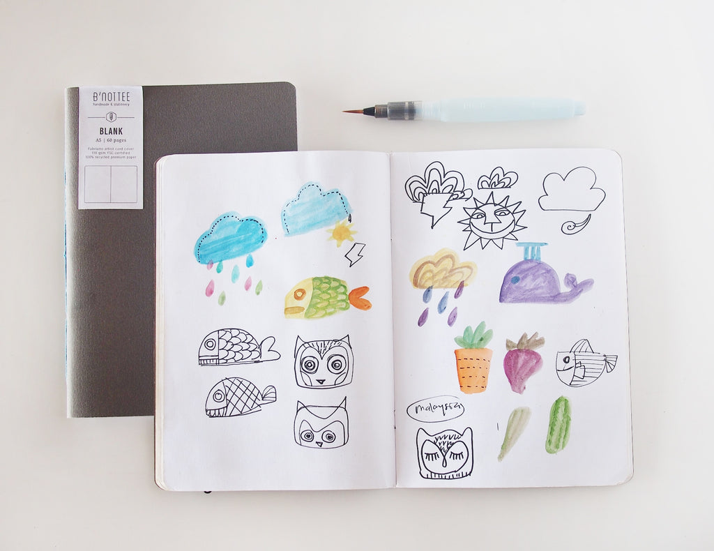 A5 Blank Notebook Insert