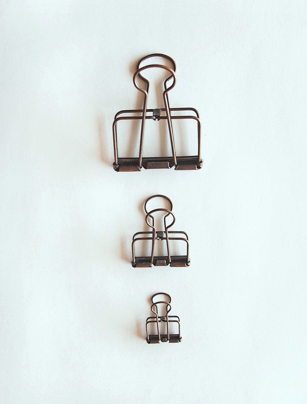 Wire Bull Clip - Antique Copper