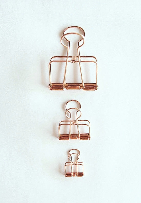 Wire Bull Clip - Rose Gold