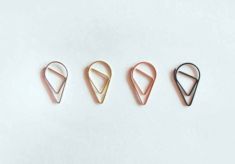Tear Drop Shape Paper Clip