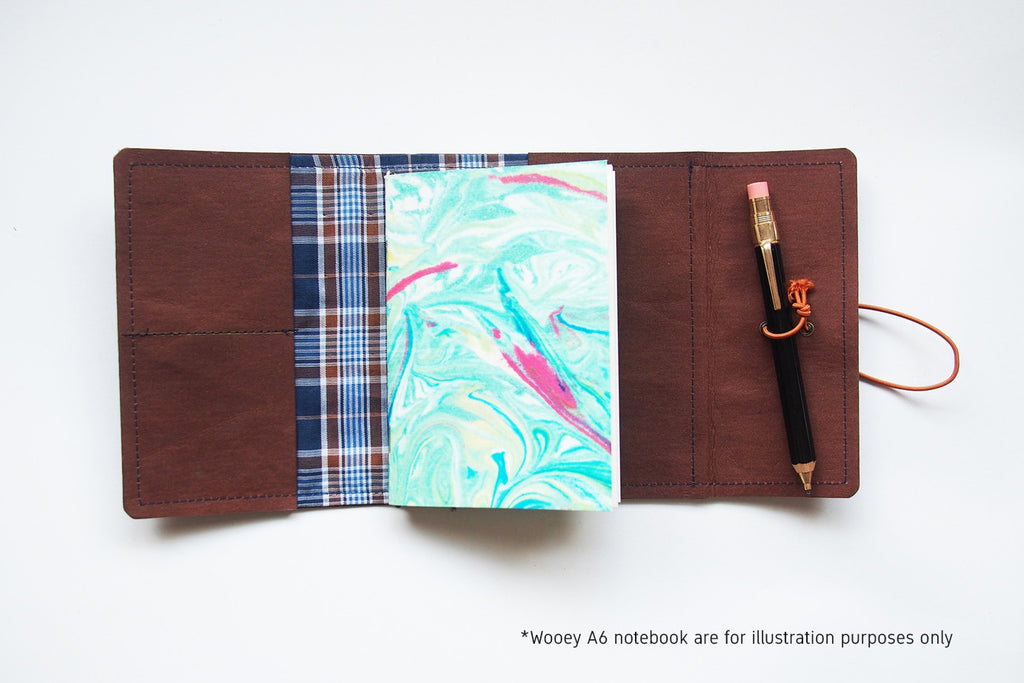 A6 Traveler's Notebook Cover (with interior lining)