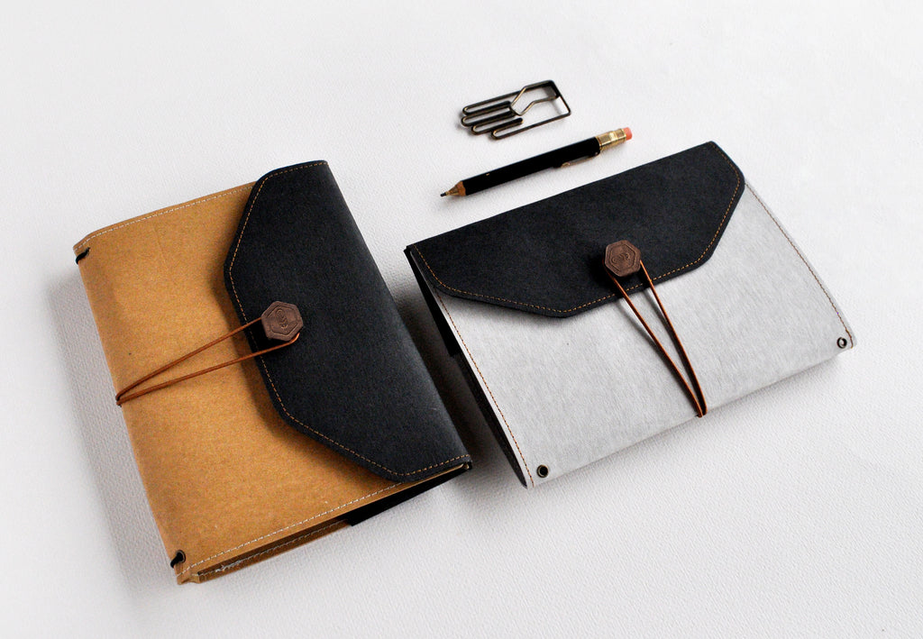 Black Flap NotteeBook Cover