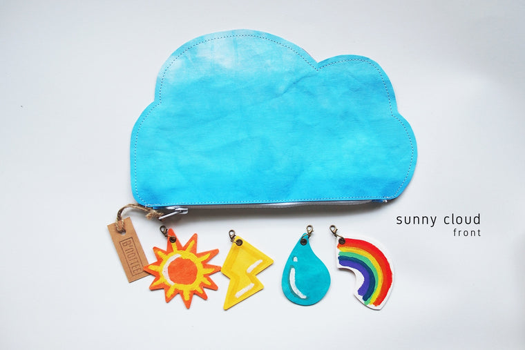 Cloud Pencil / Tool Washable Kraft Paper Pouch