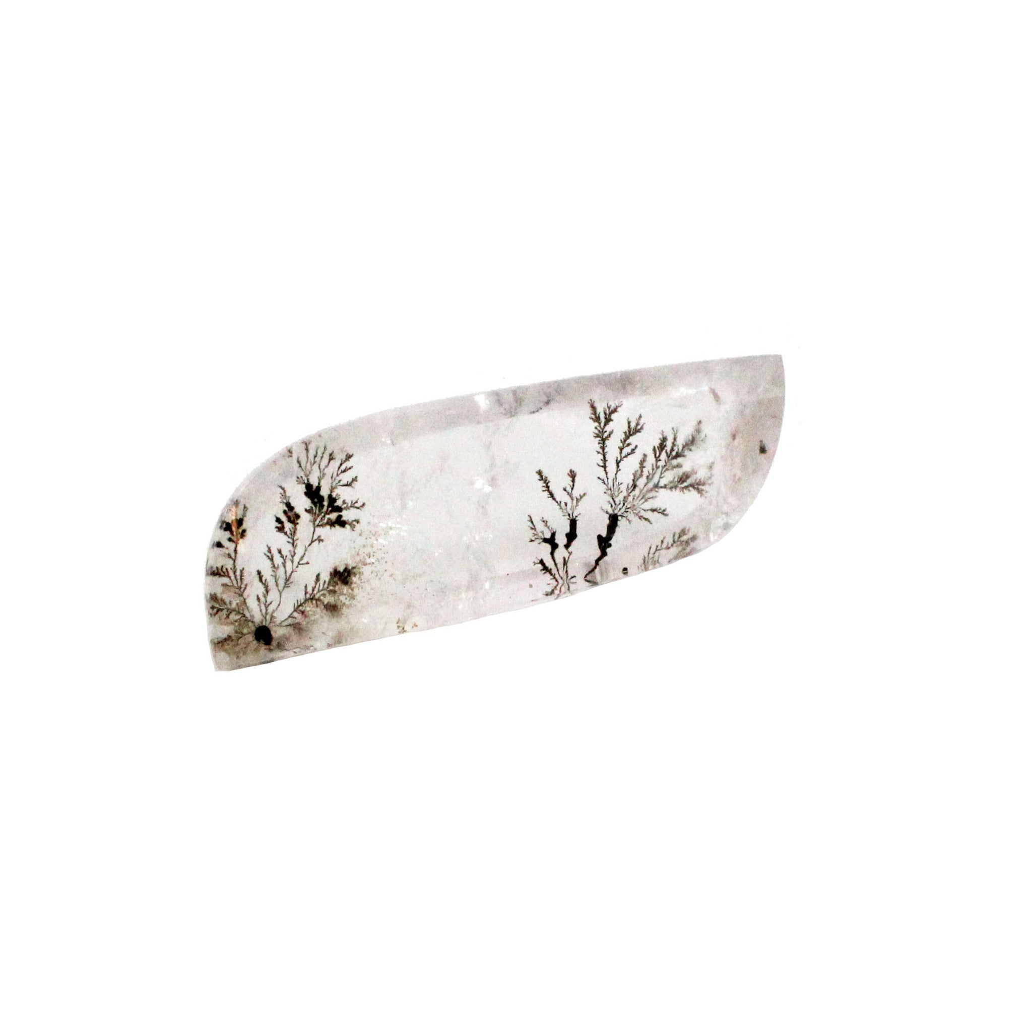 Dendritic Quartz fancy buff top cut cabochon 58.79 carat gemstone - Make your own custom jewelry - Sarah Hughes - 3