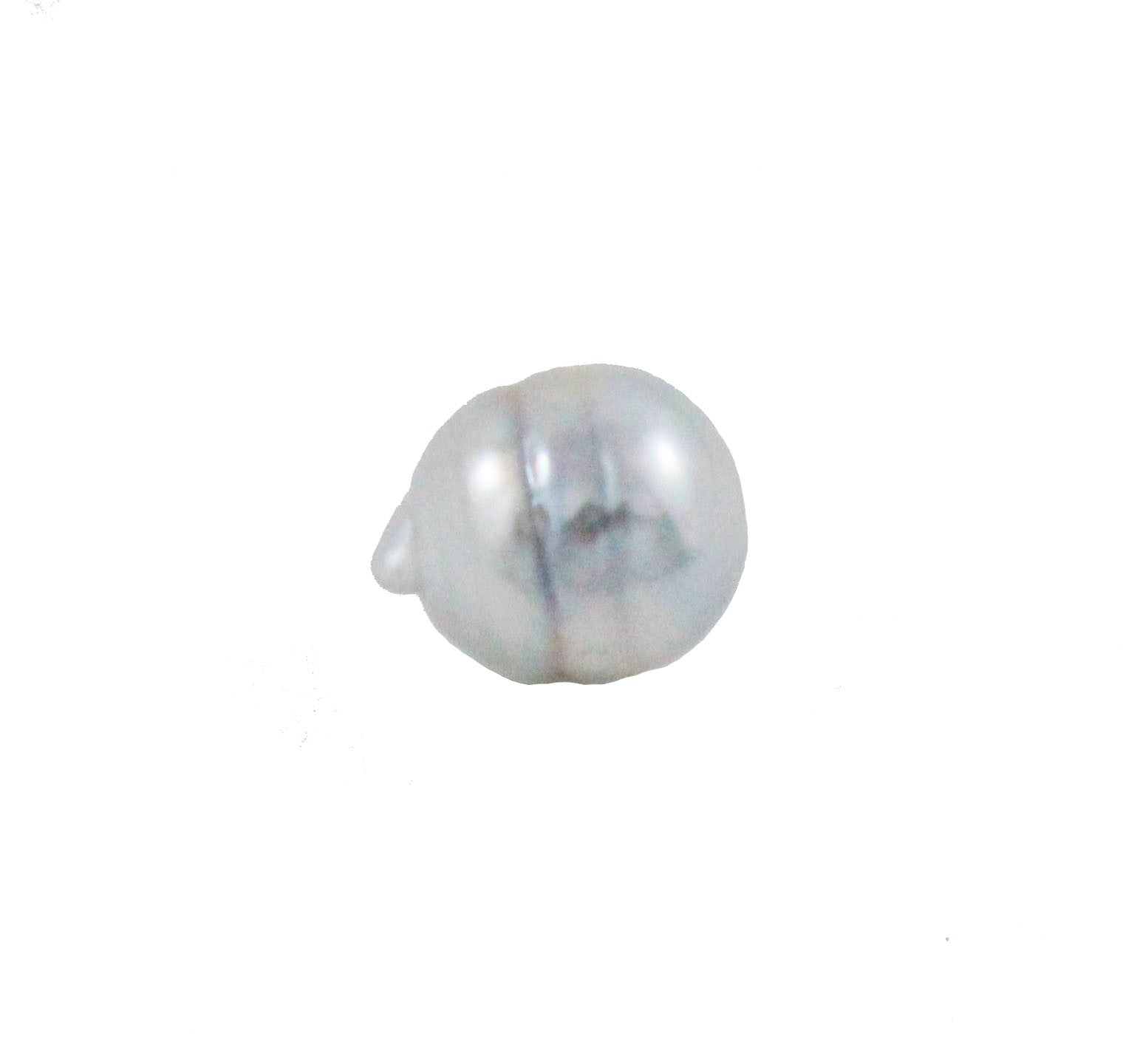 Tahitian pearl undrilled 0.90gr mm 9.97x8.19mm - Purchase only with custom order - Sarah Hughes - 2