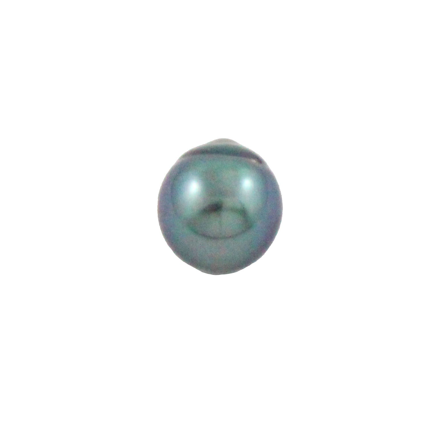 Tahitian pearl undrilled 0.94gr mm 9.53x8.65mm - Purchase only with custom order - Sarah Hughes - 3