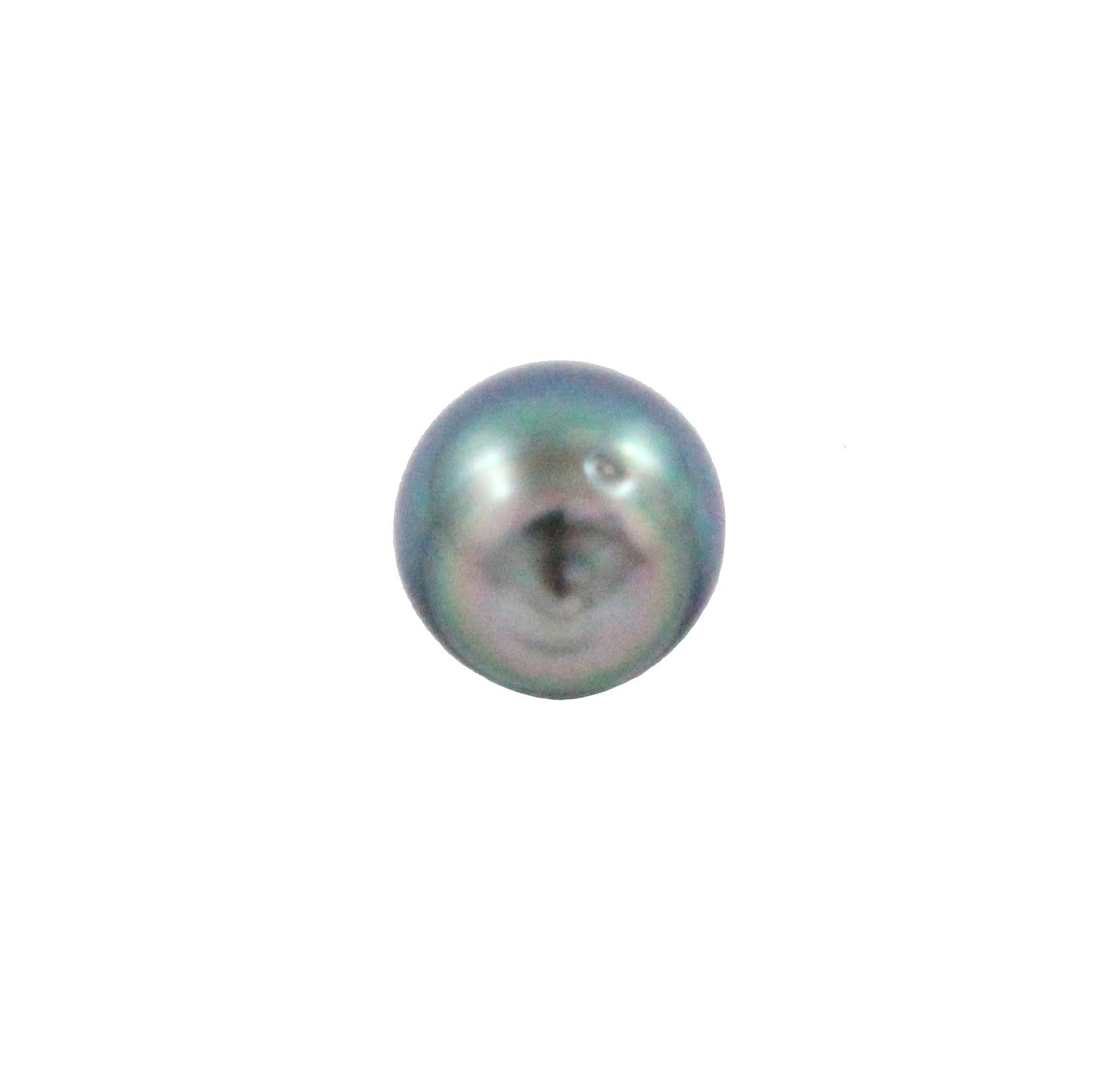 Tahitian pearl undrilled 0.94gr mm 9.53x8.65mm - Purchase only with custom order - Sarah Hughes - 5