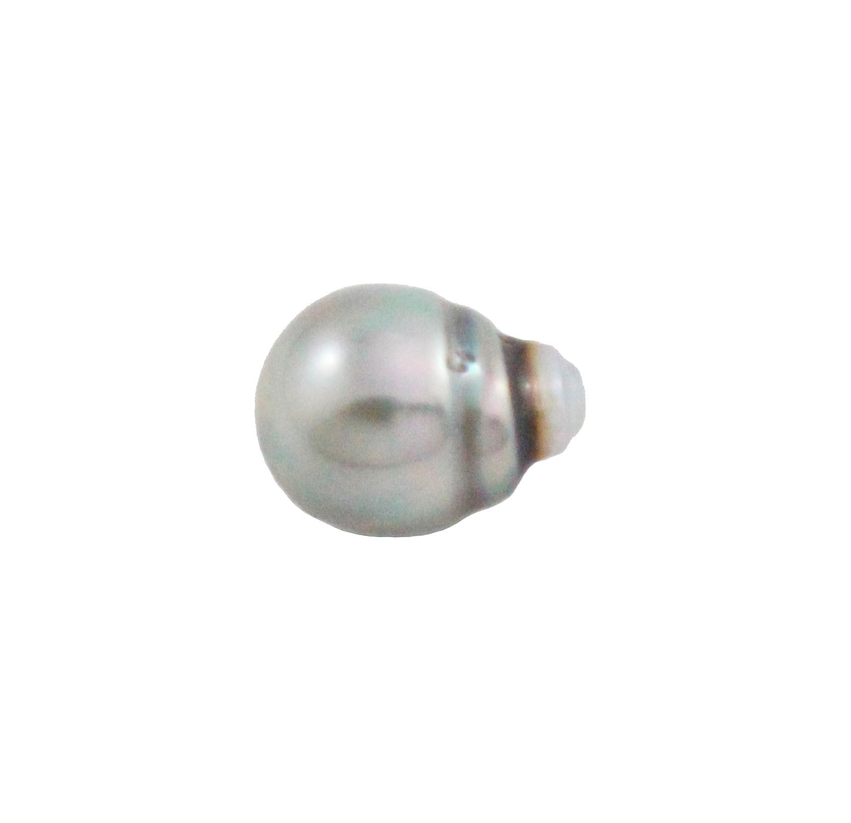 Tahitian pearl undrilled 0.97gr mm 11.15x8.26mm - Purchase only with custom order - Sarah Hughes - 2