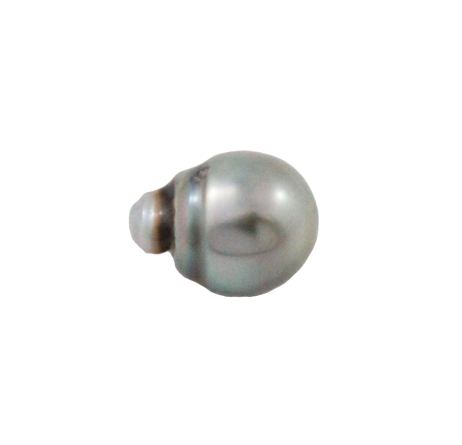 Tahitian pearl undrilled 0.97gr mm 11.15x8.26mm - Purchase only with custom order - Sarah Hughes - 4