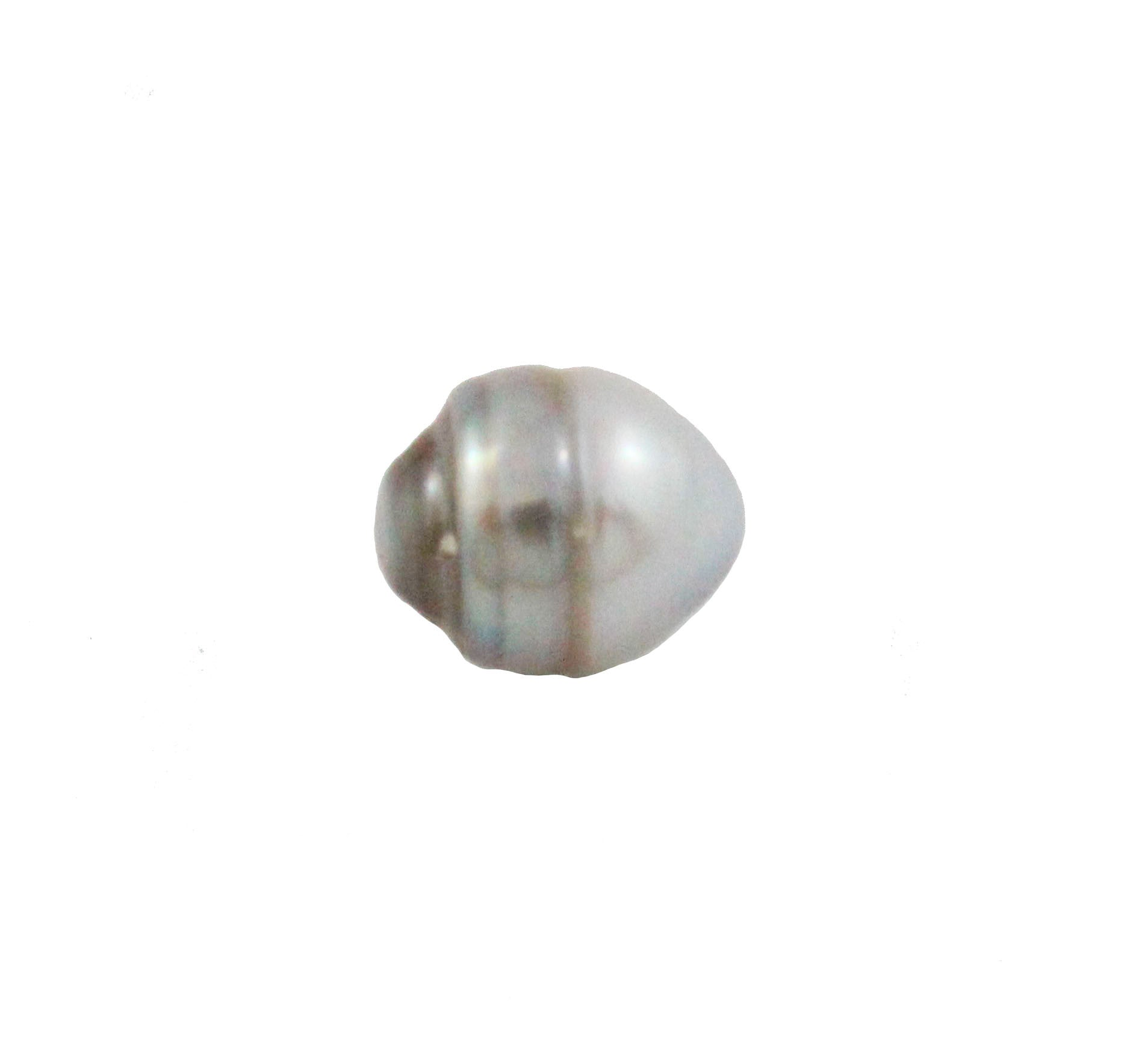 Tahitian pearl undrilled 0.98gr mm 10.14x8.34mm - Purchase only with custom order - Sarah Hughes - 4