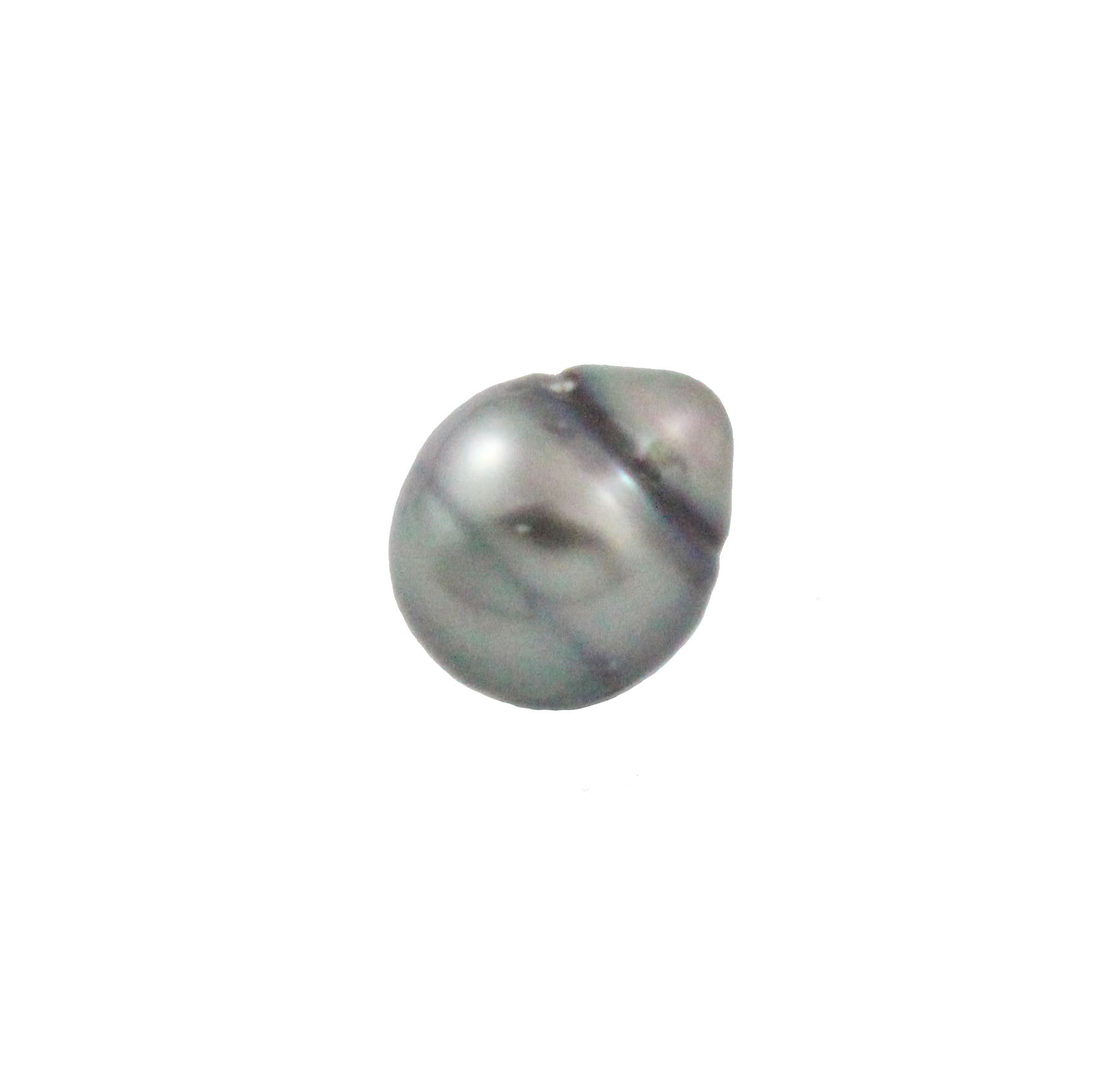 Tahitian pearl undrilled 1.05gr mm 10x8.92mm - Purchase only with custom order - Sarah Hughes - 4
