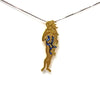 Virgo star sign as Botticelli's Venus in solid gold Virgo constellation blue sapphire birthstone black gold pendant - CLICK HERE - Sarah Hughes - 1