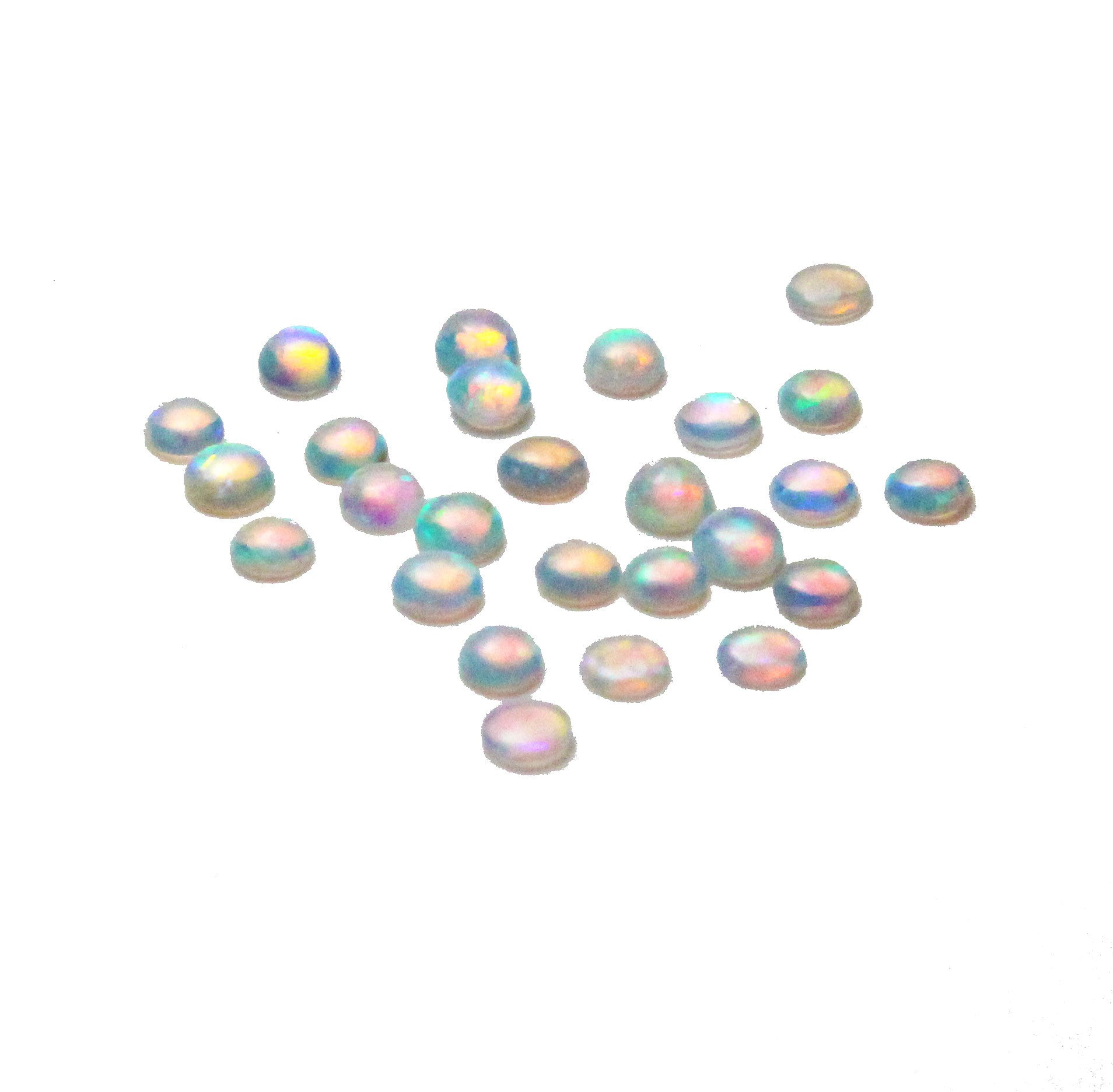 White opal small round cabochon 2.25-2.30mm loose gemstone - make a custom order CLICK HERE - Sarah Hughes - 1