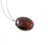 Australian boulder opal solid silver pendant necklace - Ready to ship