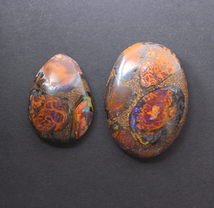 Australian boulder opal from Lightning Ridge polished cabochon CLICK HERE - Sarah Hughes - 13