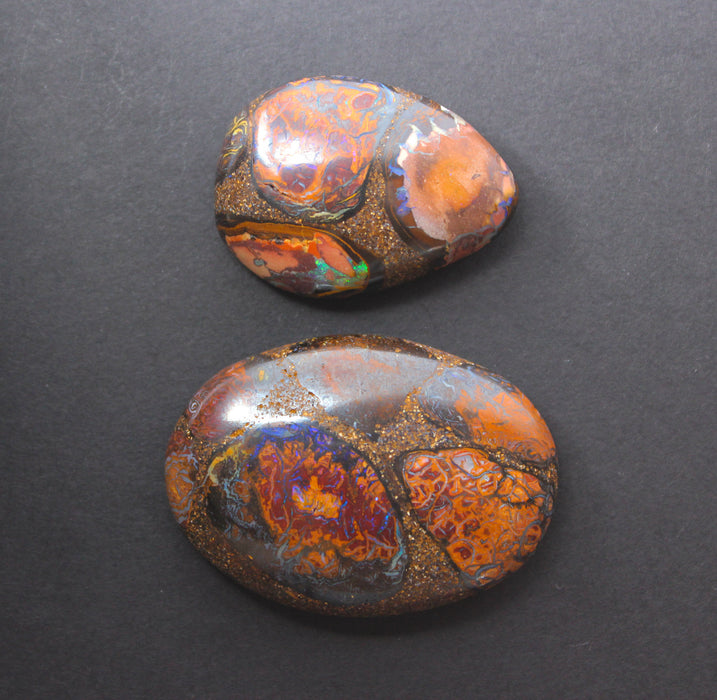 Australian boulder opal from Lightning Ridge polished cabochon CLICK HERE - Sarah Hughes - 14