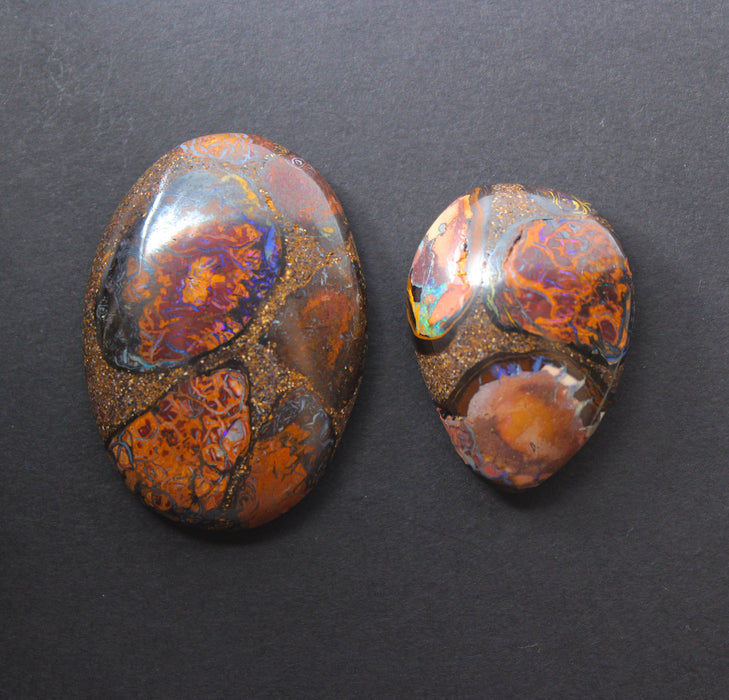 Australian boulder opal from Lightning Ridge polished cabochon CLICK HERE - Sarah Hughes - 11
