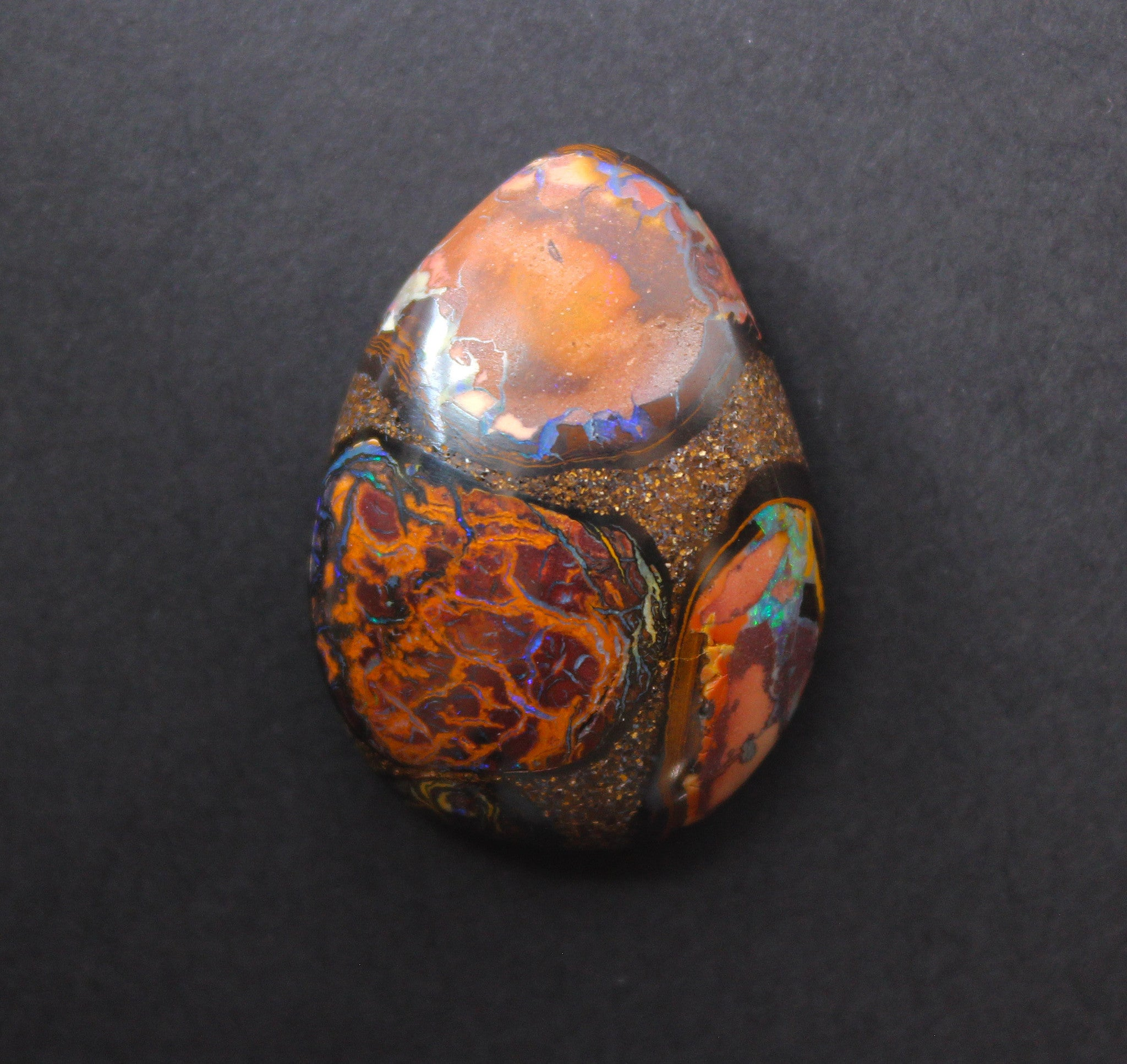 Australian boulder opal from Lightning Ridge polished cabochon CLICK HERE - Sarah Hughes - 6