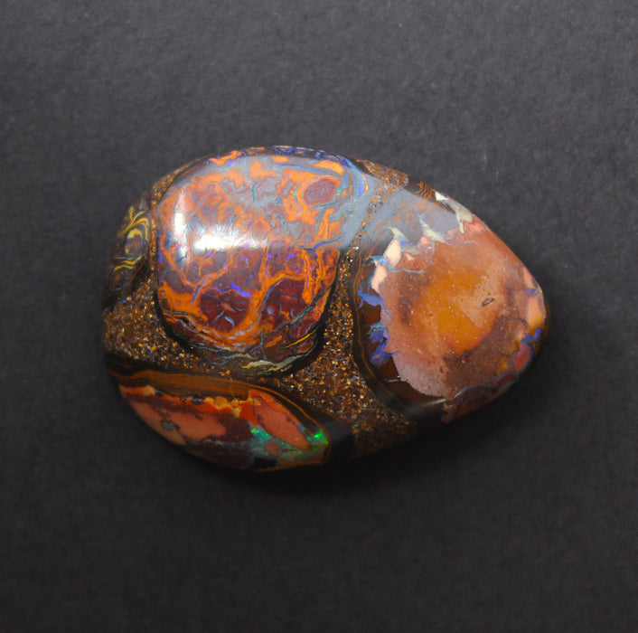 Australian boulder opal from Lightning Ridge polished cabochon CLICK HERE - Sarah Hughes - 7