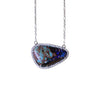 Australian boulder opal diamond 14k white gold pendant necklace - Ready to ship CLICK HERE - Sarah Hughes - 2