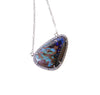 Australian boulder opal diamond 14k white gold pendant necklace - Ready to ship CLICK HERE - Sarah Hughes - 5
